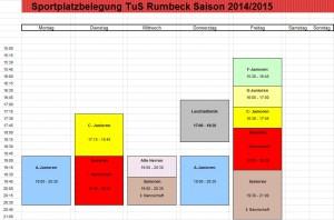 Sportplatzbelegung 2014
